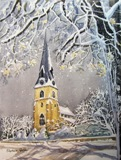 Silent Snowfall is an original watercolour painting and is also available as a Christmas Card